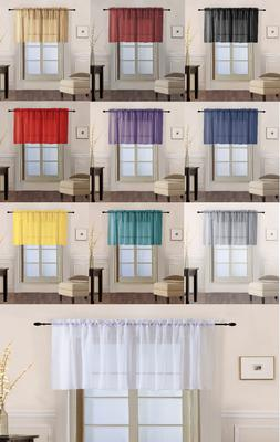 1 Piece Sheer Voile Rod Pocket Multi Use Straight Window Cur