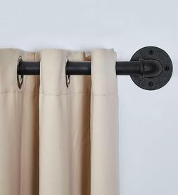 """1"""" Curved Industrial Curtain Drapery Rod- Curtain Rod for Wi"""
