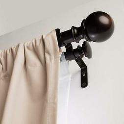 1 double curtain rod with round finials