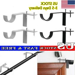 2 X Single Hang Curtain Rod Holders Tap Right Window Frame C