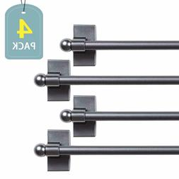 4 Packs H.VERSAILTEX Adjustable Magnetic Curtain Rods with P