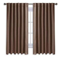 "Blackout Curtains 2 Panels Set 63"" Window Blind Drapery Home"
