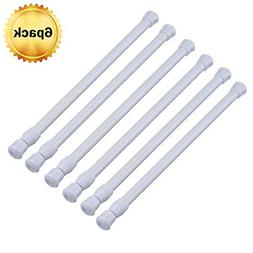 6PCS-Tension Rods Spring Curtain Rods Window Rods for Kitche