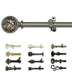 Curtain Rod Decorative Telescopic Cafe Window Drapery Rods S
