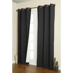 Gorgeous Home  1 PANEL SOLID PURE BLACK THERMAL FOAM LINED B