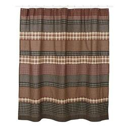 VHC Brands 17933 Beckham Shower Curtain 72x72, 72 x 72