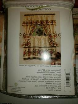 Achim's Home Furnishings apple Orchard Curtains set of 3