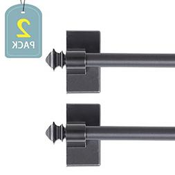 Adjustable Magnetic Curtain Rods Square Ends Small Windows 1