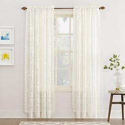 "S. Lichtenberg Alison 58 By 63"" Curtain Panel, Ivory"