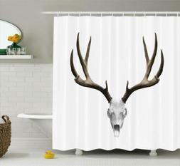 Antlers Decor Shower Curtain Set By Ambesonne A Deer Skull S