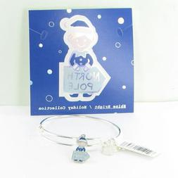 Authentic Alex and Ani ELF North Pole Shiny Silver Charm Ban