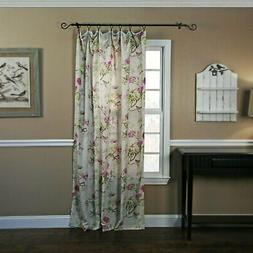 Balmoral Fabric Floral Rod Pocket Panel Window Curtain 48 x8