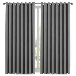 H.VERSAILTEX Blackout Patio Grey Curtains, Extra Long and Wi
