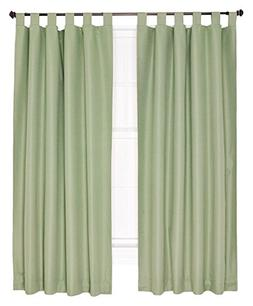 Ellis Curtain Crosby Thermal Insulated 80 by 63-Inch Tab Top