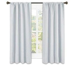 curtain panels window treatment thermal insulated rod