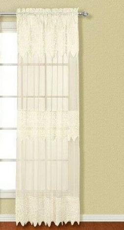 United Curtain Valerie Lace Sheer Window Curtain One Panel 5