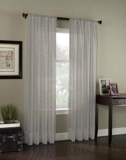 """Curtainworks Soho Voile Sheer Curtain Panel, 59 by 95"""", Silv"""