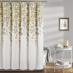 Lush Decor Weeping Flower Shower Curtain - Fabric Floral Vin