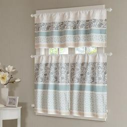 Madison Park Dawn Printed and Pieced Rod Pocket Kitchen Tier