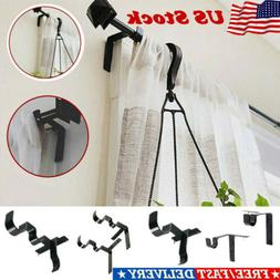 Double Hang Curtain Rod Holders Tap Right Window Frame Curta