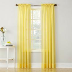 """ERICA CRUSHED SHEER VOILE CURTAIN PANEL By No. 918 51"""" x 63"""""""