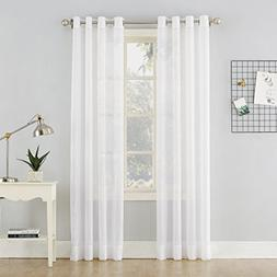 No. 918 Erica Crushed Sheer Voile Grommet Curtain Panel, 51""