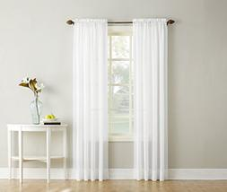 """No. 918 Erica Crushed Texture Sheer Voile Curtain Panel, 51"""""""