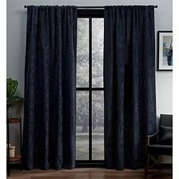 Exclusive Home Crosshatch Chenille Rod Pocket Curtain Panel