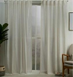 Exclusive Home Muskoka Hidden Tab Rod Curtain in Natural 2 P