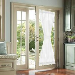 jinchan French Door Curtains White 72 Inch Privacy Casual We