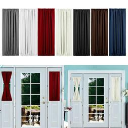 French Rod Pocket Door Panel Blackout Curtains Thermal Insul