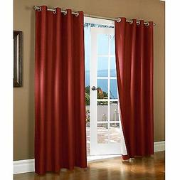 gorgeous home 72 1 panel solid burgundy