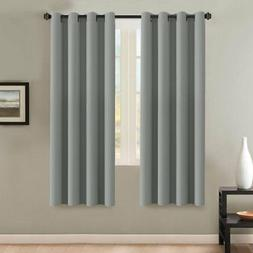 H.VERSAILTEX Insulated Thermal Blackout 72-Inch Long Grey Cu