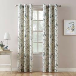 hariette printed casual grommet curtain panel floral