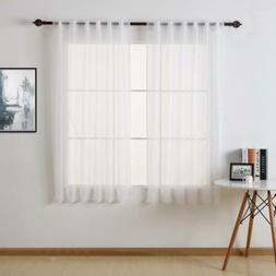 Deconovo Home Decorations Rod Pocket and Back Tab Curtains 5