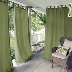Elrene Home Fashions Matine Indoor/Outdoor Solid Tab Top Sin