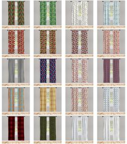 Ambesonne Home Privacy Protected Microfiber Window Curtains