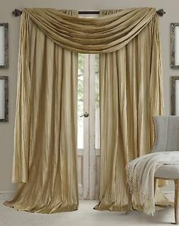Elrene Home Fashions Venice Faux Silk Pair of Rod Pocket Cur