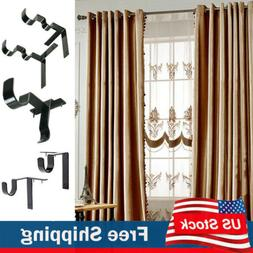 Kwik Hang Double Center Support Curtain Rod Bracket Into Win
