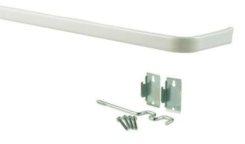 Kenney Double Curtain Rod, 48 to 86-Inch, White