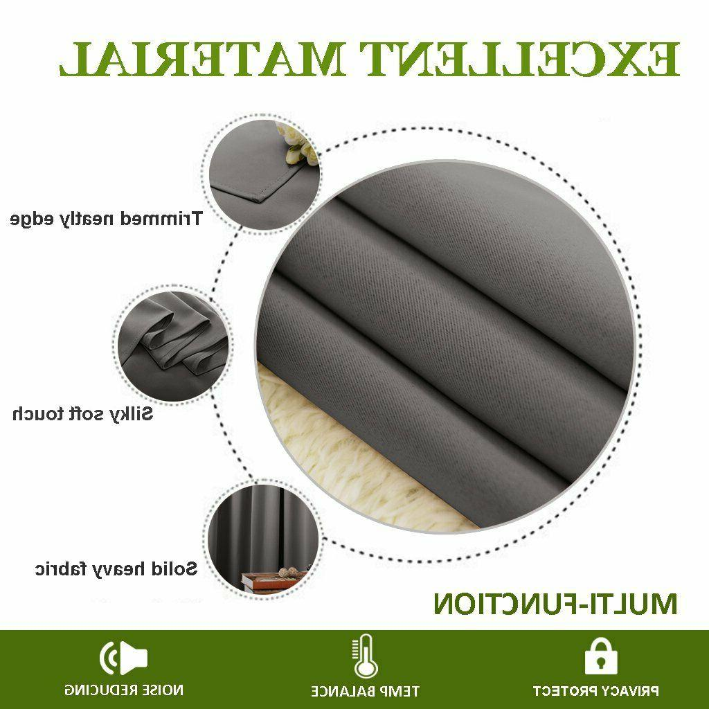 NICETOWN for Window - Thermal Insulated Rod Pocket Blac