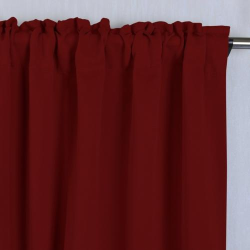 NICETOWN Bedroom Draperies Burgundy Red 52 63