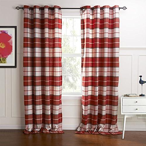 country retro red plaid eco