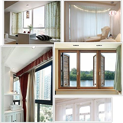 Aimyoo Meters 9.8 Track - Bendable Windows Slide Rail Top Mounting Installation