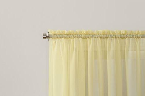 No. Emily Voile Curtain Panel, x Yellow