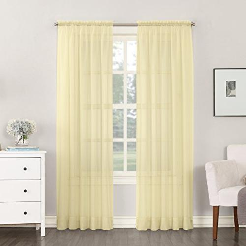emily sheer voile curtain panel