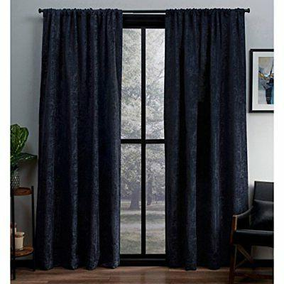 exclusive home crosshatch chenille rod pocket curtain
