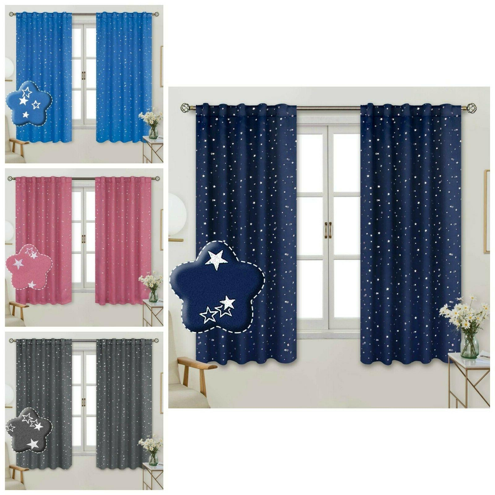 Insulated Curtains For Kids Bedroom Sparkly Star Blackout Ro