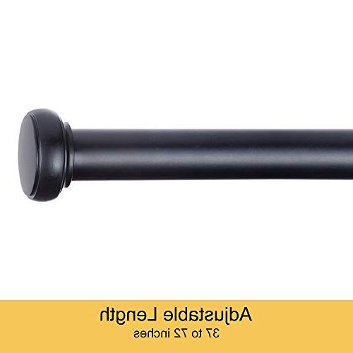 "Kenney KN90000 1"" Rust Resistant or Wall-Mount Curtain Rod,"
