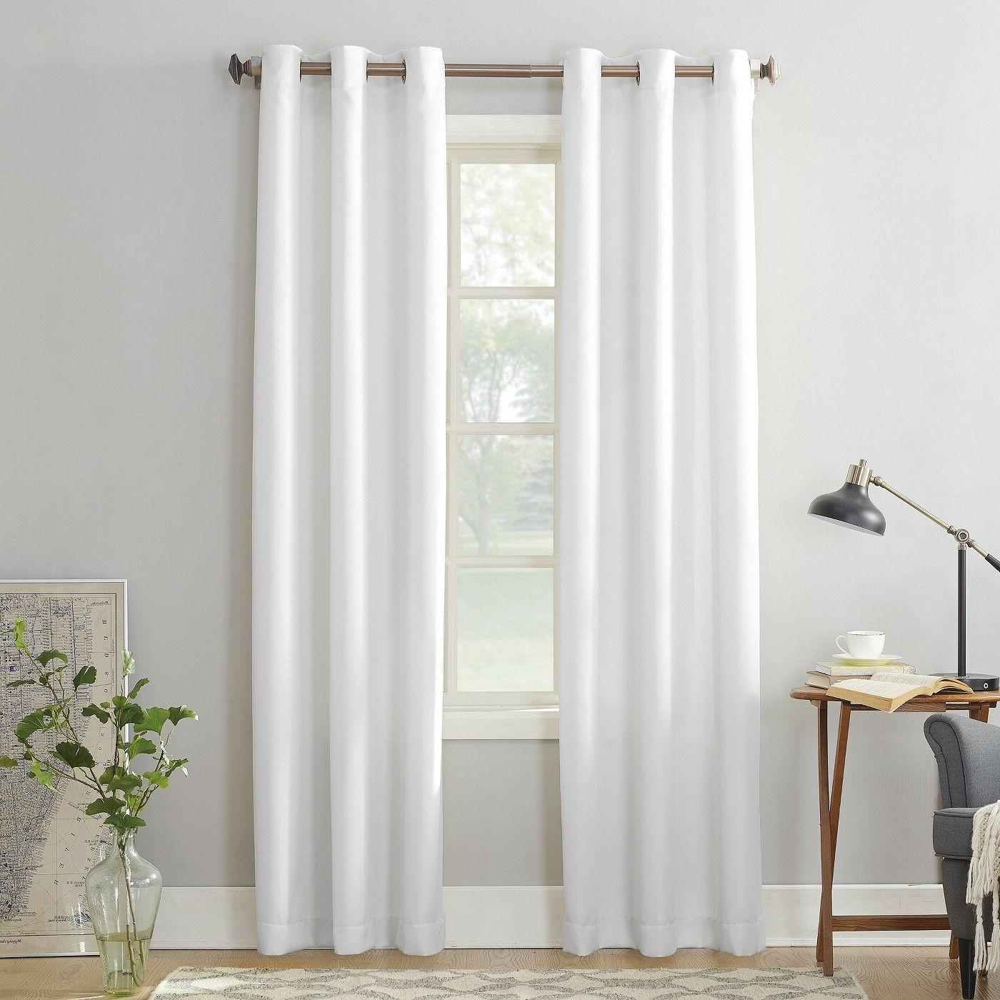 """MONTEGO CASUAL GROMMET TOP CURTAIN PAIR By No. 918 96""""Wx63""""L"""
